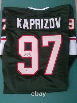 Kirill Kaprizov Custom Green Signed Jersey Beckett Minnesota