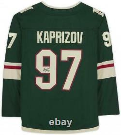 Kirll Kaprizov Wild Signed Green Fanatics Jersey & 20th Anniv Season Patch