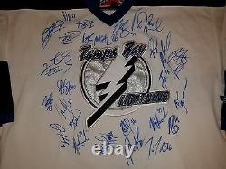LIGHTNING vintage team signed jersey LECAVALIER ST. LOUIS STAMKOS LARGE