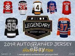 LMB 2019 Legendary Mystery Autographed Jersey Hockey Series 1 Hobby Box