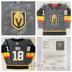 Las Vegas Golden Knights 2017-2018 Autographed Team Signed Jersey Inaugural Jsa
