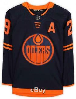 Leon Draisaitl Edmonton Oilers Signed Navy Alternate Adidas Authentic Jersey