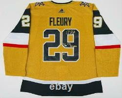 MARC-ANDRE FLEURY Signed Sin City Stopper Authentic Gold Jersey FANATICS LE 29