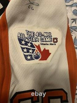 MARIO LEMIEUX AUTHENTIC 1989 ALL STAR HOCKEY JERSEY Autograph Signed auto