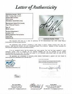 MARIO LEMIEUX Signed / Autographed Pittsburgh Penguins Hockey Jersey w JSA COA
