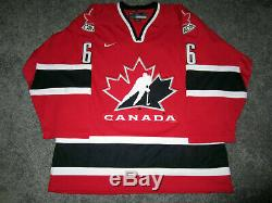 MARIO LEMIEUX Team Canada Olympics SIGNED Autographed JERSEY with PSA COA Medium