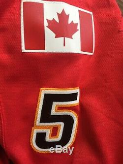MARK GIORDANO NHL Calgary Flames SIGNED Autographed JERSEY New With Tags Large