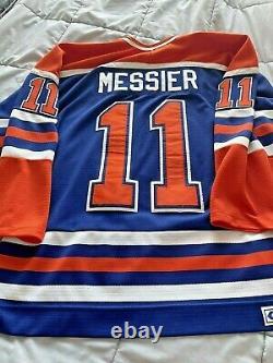 MARK MESSIER Edmonton Oilers CCM Vintage Replica Blue Away NHL Hockey Jersey