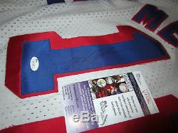 MARK MESSIER New York Rangers SIGNED Autographed Vintage JERSEY with JSA COA XL