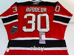 MARTIN BRODEUR signed Autographed Reebok New Jersey Devils jersey JSA