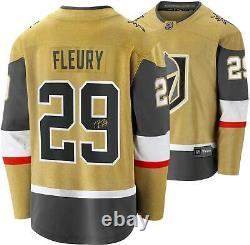Marc-Andre Fleury Vegas Golden Knights Signed Gold Alternate Fanatics Jersey