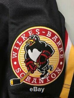 Marc-Andre Fleury WBS- Wilkes Barre Scranton Baby Penguins Jersey Size Pro 52