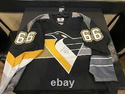 Mario Lemieux #66 Autographed Pittsburgh Penguins NHL Jersey
