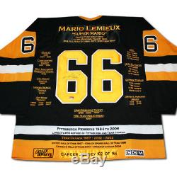 Mario Lemieux Career Jersey Autographed LTD ED 166 Pittsburgh Penguins