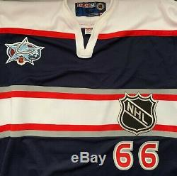 Mario Lemieux Limited Edition 30/66 Autographed 2001 All Star Jersey with Steiner