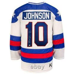 Mark Johnson Autographed USA Olympic Replica Jersey with 1980 Gold! Insc