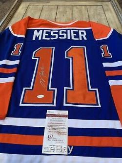 Mark Messier Autographed/Signed Jersey JSA COA Edmonton Oilers