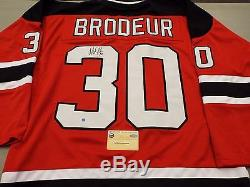 Martin Brodeur Signed Red Authentic Style (custom) Jersey Steiner COA