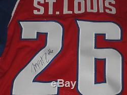 Martin St Louis Autographed 2009 Game Style Authentic All Star Lightning Jersey