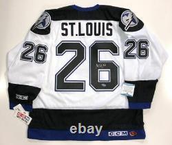 Martin St. Louis Signed Tampa Bay Lightning 2004 Cup Jersey Beckett Coa M60559