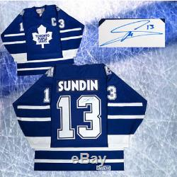 Mats Sundin Signed Toronto Maple Leafs CCM Vintage Style Jersey