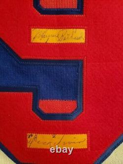 Maurice Richard Dick Irvin Signed Jersey
