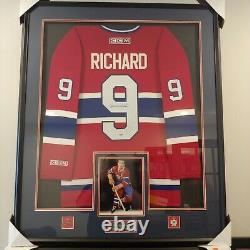 Maurice Richard Framed Signed Montreal Canadiens Red CCM Jersey Auto Autographed