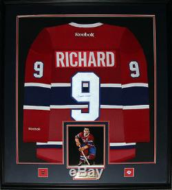Maurice Richard Montreal Canadiens signed jersey frame