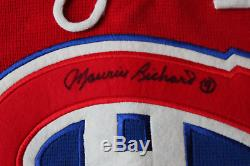 Maurice Richard signed autographed Montreal Canadiens jersey! RARE! JSA LOA