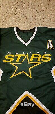 Mike Modano Autographed Custom Dallas Stars Hockey Jersey JSA Witness COA