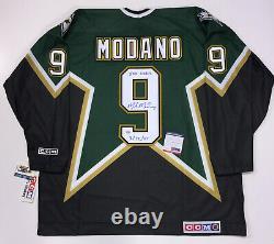 Mike Modano Signed CCM Dallas Stars Inscribed 500 Goal Jersey Psa/dna Coa XXL