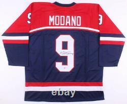 Mike Modano Signed Team USA Jersey (Beckett COA) #1 Overall pick 1988 NHL Draft