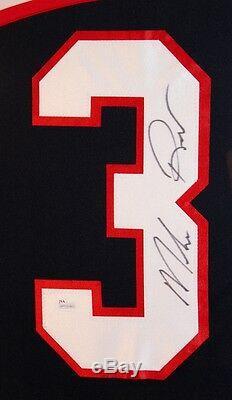 Mike Richter Signed Team USA 35x43 Custom Framed Jersey (JSA) N Y Rangers Goalie