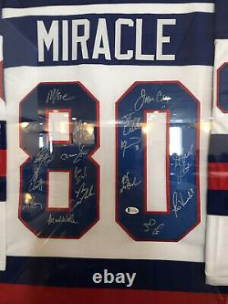 Miracle on ice signed jersey USA Hockey Team