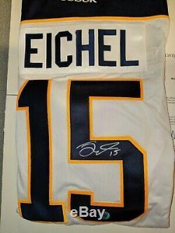 NHL Jack Eichel Sabres Signed Auto Jersey COA AJ's