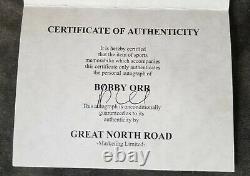 NHL LEGEND BOBBY ORR SIGNED AUTOGRAPHED Authentic BOSTON BRUINS JERSEY GNR CERT