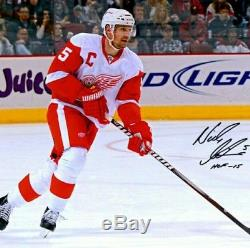 NICKLAS LIDSTROM SIGNED DETROIT RED WINGS WHITE JERSEY BRAND NEW withtags