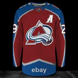 Nathan MacKinnon Colorado Avalanche Adidas Pro Autographed Jersey