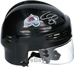 Nathan MacKinnon Colorado Avalanche Autographed Black Mini Helmet