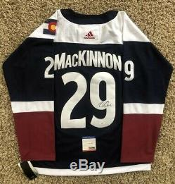 Nathan MacKinnon Signed Colorado Avalanche Jersey PSA/DNA COA #29 NHL All Star