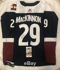 Nathan Mackinnon Signed Auto Colorado Avalanche Alternate Jersey Jsa Coa