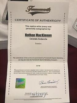 Nathan Mackinnon Signed/ Autographed Colorado Avalanche Jersey Frameworth Coa