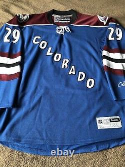 Nathan Mackinnon Signed Autographed Genuine Reebok Colorado Avalanche Jersey PSA