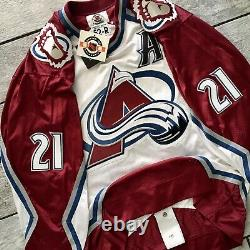 New! Starter NHL Center Ice Jersey Colorado Avalanche Peter Forsberg Autograph