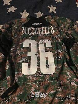 New York Rangers Mats Zuccarello Autographed Camo Jersey