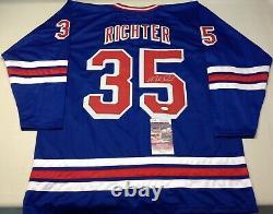 New York Rangers Mike Richter Autographed Blue Jersey Jsa Coa
