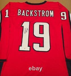 Nicklas Backstrom Washington Capitals Autographed Signed Jersey XL COA