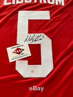 Nicklas Lidstrom Detroit Red Wings #5 Signed Autographed Jersey PAAS COA