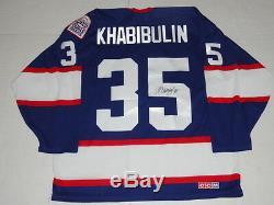 Nikolai Khabibulin Signed Vintage Winnipeg Jets Jersey Rare
