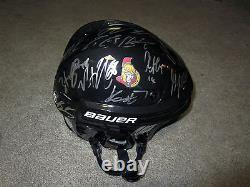 OTTAWA SENATORS 2017 Team SIGNED Autographed Helmet withCOA Pageau Turris Ryan +